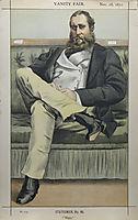 Caricature of Lionel Dawson Damer M.P., 1871, tissot