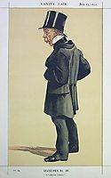 Caricature of Mr George Leeman M.P., 1872, tissot