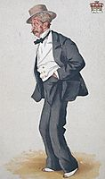 Caricature of Thomas Egerton, 2nd Earl of Wilton, 1873, tissot