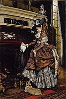 The Fireplace, 1869, tissot