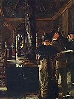 Foreign Visitors at the Louvre, c.1880, tissot