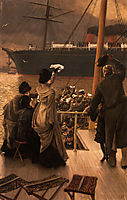 Goodbye, on the Mersey, 1881, tissot