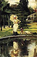 In an English Garden, 1878, tissot