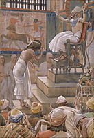 Joseph and His Brethren Welcomed by Pharaoh, tissot