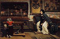 Marguerite in Church, 1860, tissot