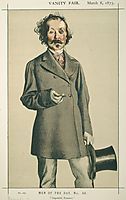 Men of the Day No.580 Caricature of Mr.Thomas Mayne Reid, tissot