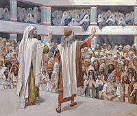 Moses and Aaron Speak to the People, c.1902, tissot