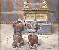 Moses and Joshua In the Tabernacle, c.1902, tissot
