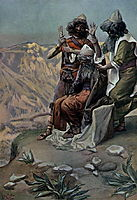 Moses on the Mountain During the Battle, as in Exodus, tissot