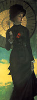 Mrs Newton with a Parasol, 1879, tissot