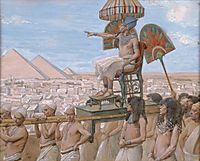 Pharaoh Notes the Importance of the Jewish People, tissot