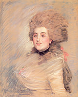 Portrait of an Actress in Eighteenth Century Dress, 1883, tissot