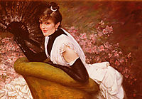 Portrait of a Woman with a fan,  ?, tissot