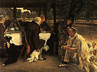 The Prodigal Son in Modern Life: The Fatted Calf, 1882, tissot