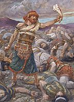 Samson Slays a Thousand Men, c.1902, tissot