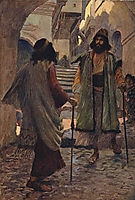 Saul meets with Samuel, 1900, tissot