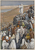 The Sermon on the Mount, illustration for -The Life of Christ-, c.1896, tissot