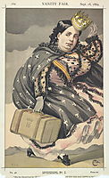 Sovereigns No.20 Caricature of Isabella II of Spain, tissot