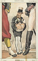 Sovereigns No.30 Caricature of Leopold II of the Belgians, tissot