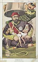 Sovereigns No.50 Caricature of Sultan Abdul Aziz of Turkey, tissot