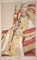 Sovereigns No.60 Caricature of Pope Pius IX, tissot