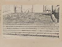 Staircase of the Court, Haram, 1889, tissot