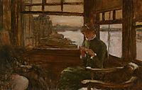 Study of Cathlene Newton in a Thames Tavern, tissot