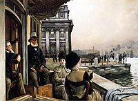 The Terrace Of The Trafalgar Tavern, Greenwich, London, tissot