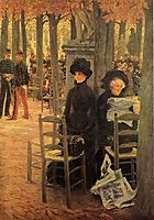 Without a Dowry aka Sunday in the Luxembourg Gardens, 1883-1885, tissot