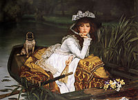 Young Lady in a Boat, 1870, tissot