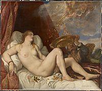 Danae, 1554, titian