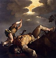 David and Goliath, 1544, titian