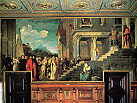 Entry of Mary into the temple, 1534-1538, titian
