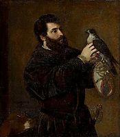 Giorgio Cornaro with a Falcon, 1537, titian
