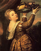 Girl with a Basket of Fruits, Lavinia, 1555-1558, titian