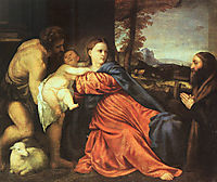 Holy Family and Donor, 1514, titian