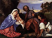 The Holy Family with a Shepherd, c.1510, titian