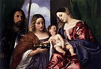 Madonna and Child with Sts Dorothy and George, 1520, titian