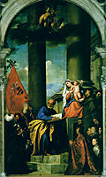 Madonna with Saints and Members of the Pesaro Family, 1519-1526, titian