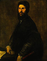 Man Holding a Flute, 1565, titian