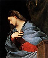 Polyptych of the Resurrection Virgin Annunciate, 1522, titian