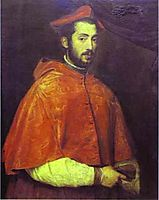 Portrait of Cardinal Alessandro Farnese, 1546, titian