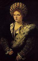 Portrait d`Isabella d`Este, 1536, titian