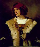Portrait of a Man in a Red Cap, 1516, titian