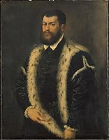 Portrait of a man with ermine coat, titian