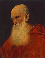 Portrait of an Old Man, Pietro Cardinal Bembo, 1545-1546, titian