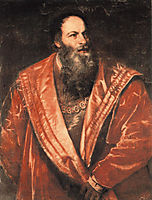 Portrait of Pietro Aretino, 1545, titian