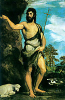 Saint John the Baptist, 1542, titian