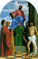 Saint Mark Enthroned, 1510, titian