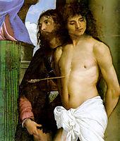 Saint Mark Enthroned, detail 1, 1510, titian